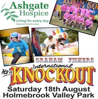 Ashgate Hospice's 'It's A Knockout' Sunday 8th July, Holmebrook Valley Park
