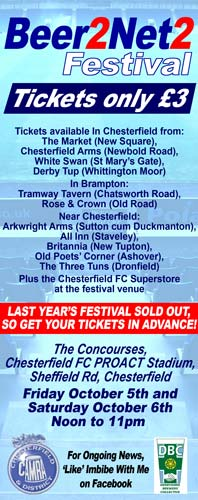 Beer2net2 Festival - at the Proact Stadium - 5th and 6th October. Get your tickets now!