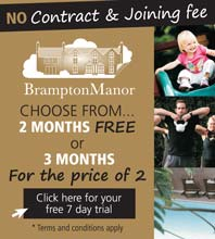 No contract and no joining fee to Brampton Manor's Health and Fitness Centre. Click to apply for your free 7 day trial pass.
