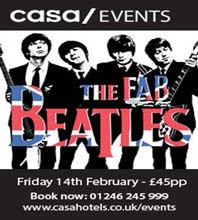 The Beatles at the CASA. includes Reception and 3 course meal. Click now to book