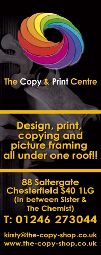 The Copy Shop, Chesterfield. 01246 273044