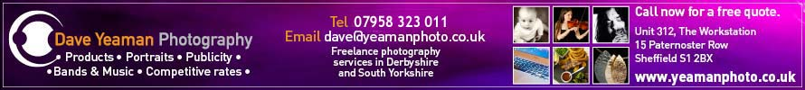 Dave Yeaman Photography 0114 221 0331 or 0790 832 3011 for free quotation