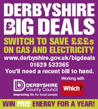 Derbyshire Big Deals from Derbyshire County Council - local residents save cash on utilities. call 01629 533365