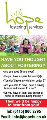 If you are thinking of Fostering, but don't know what to do next, then Hope Fostering Services may be able to help. Click for more details