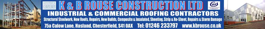 K & B Rouse Construction Ltd. Industrial and COmmercial contractors. Call 01246 233797