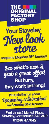 The Original Factory Shop, New Look store at Staveley opens Monday 26th January 2015. Click for details