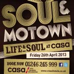 Soul And Motown Returns To The CASA Hotel on Friday 26th