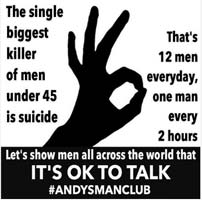 Find out more about the #ITSOKAYTOTALK campaign and how the NSPA is joining up with Andy's Man Clubs working to reduce suicide on the National Suicide Prevention Alliance (NSPA) website