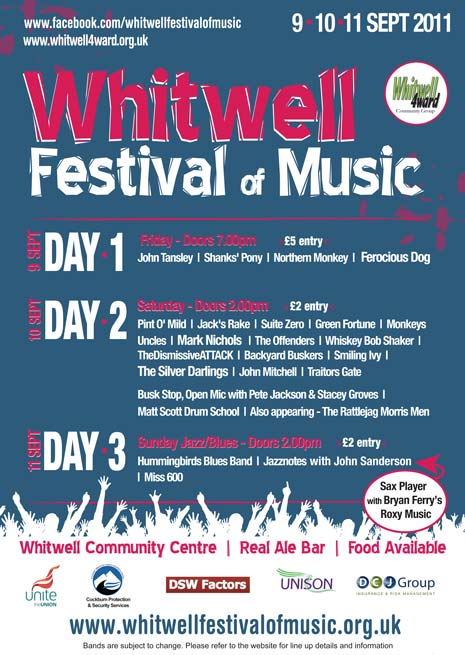 Whitwell Music Festival Poster