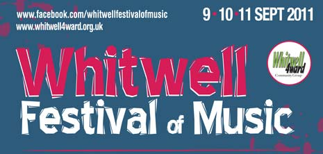 Whitwell Festival Of Music, 9th to 11th September