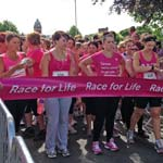 Chesterfield Town Centre In The Pink During Race For Life