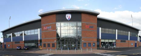 The B2Net Stadium, new home of Chesterfield Football Club