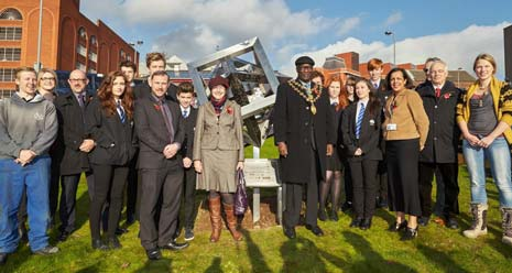 As reported previously, The Mayor and Mayoress of Chesterfield kicked off the festival by unveiling a new sculpture outside Chesterfield Coach Station, which was a collaboration between, Franke Sissons Ltd's apprentices and students from Parkside School
