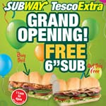 Subway @ Chesterfield's Tesco Extra - The Grand Opening