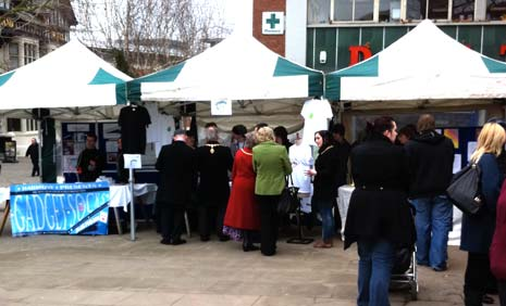Young people show off their enterprise skills at the Chesterfield Market