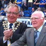The Mayor makes the football raffle charity draw at the B2net on Monday
