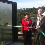 Chesterfield Mayor Cllr Peter Barr opens Hasland allotment's new 'green' toilets