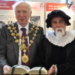 Chesterfields Mayor and Mayoress visit Bible Exhibition