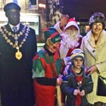 Mayor And Mayoress Of Chesterfield Light Up New Whittington