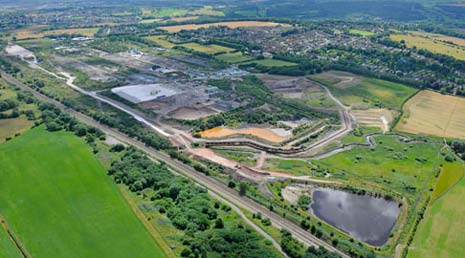 One of the waste lagoons, where the worst contaminants had been stored, has had all pollutants removed by contractors
