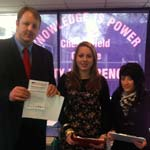 Toby Perkins with students at Chesterfield College's Day of Action ahainst the withdrawal of thr EMA
