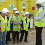 Local Schools Visit Care Home Construction Project in Chesterfield