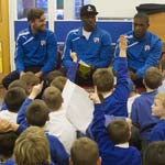 Chesterfield FC have been praised for helping to improve the attendance record at Whitecotes Primary School.