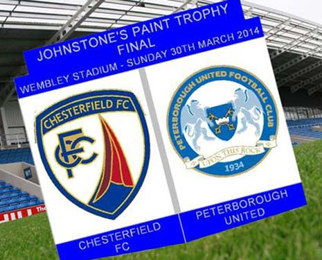 Limited edition lapel badges have been produced to commemorate Chesterfield's appearance in the Johnstone's Paint Trophy final - and raise money for a local charity.