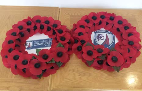 Chesterfield Football Club also held a service for the fallen at lunchtime, attended by players, staff and members of the public, at the newly opened Memorial Garden.